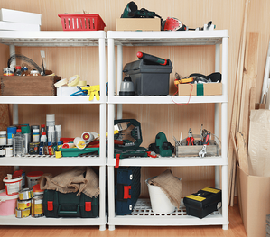 Say Goodbye to Clutter: The Garage Shelves Image