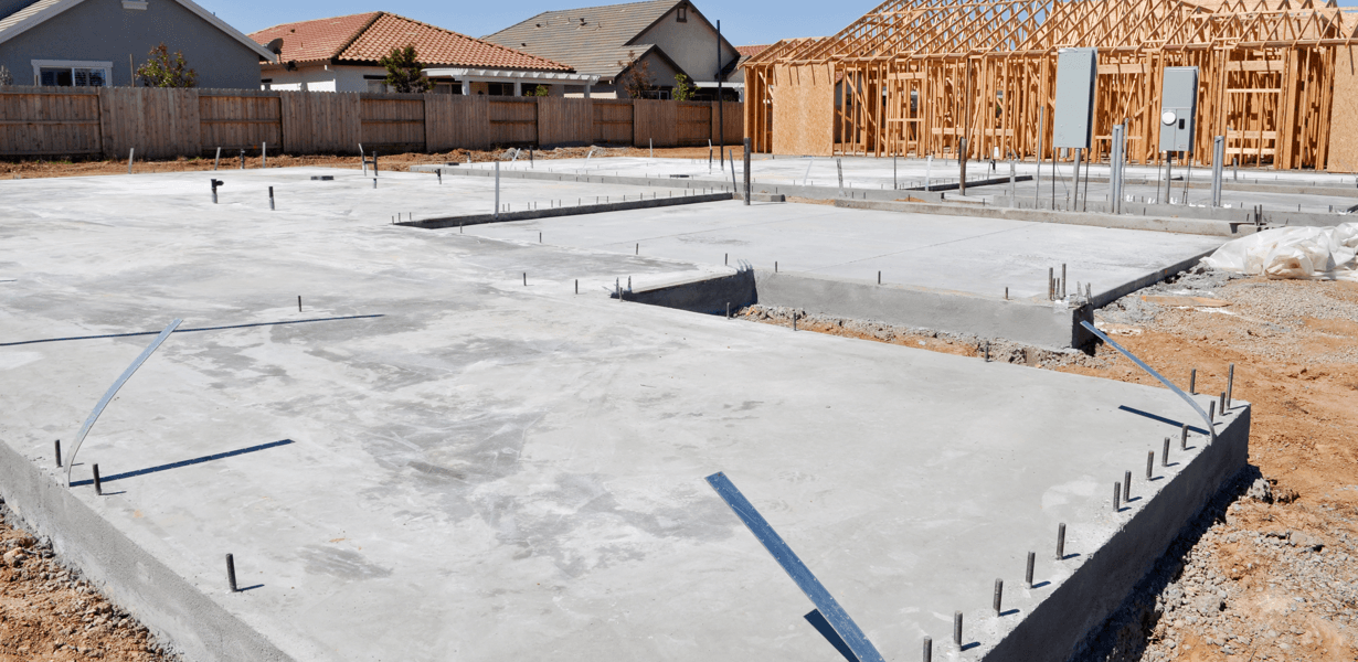 What to Expect With New Home Builds: Foundation & Framing Concrete Image